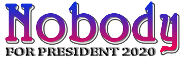 Nobody for President 2020, None of the Above on Voter Ballots