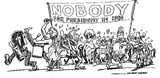 Nobody for President Poster - Gilbert Shelton - 1976